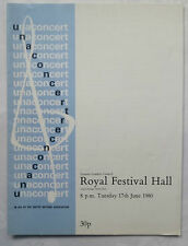 ROYAL PHILHARMONIC ORCHESTRA.ROYAL FESTIVAL HALL PROGRAMME 80.BEETHOVEN.CORIOLAN