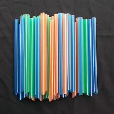 Neon Plastic Drinking Jumbo Straws Bubble Milk Tea 50 pcs Big Hole 3/8 in. New