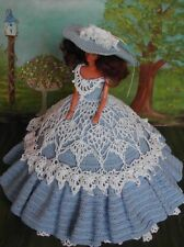 CROCHET FASHION DOLL PATTERN-ICS DESIGNS-47 COUNTRY GARDEN