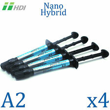 4x Dental Denu Flow Resin A2 Light Cure Composite Flow Resin Nano Hybrid 2g