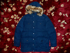 $295 Tommy Hilfiger Mens Blue Hoody Size Large L Authentic Parka Jacket Navy