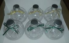 6 screw top Christmas baubles fillable personalised shatterproof plastic 10cm