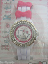 HELLO KITTY WATCH HK018 OFFICIAL SANRIO STAINLESS STEEL CRYSTALS GENUINE
