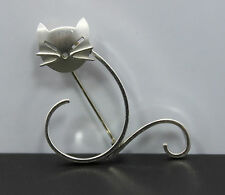 BEAU Sterling Silver Cat Pin/Brooch