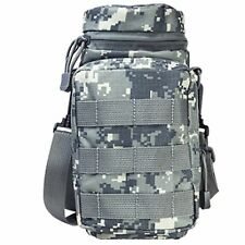 NcSTAR VISM Tactical Water Bottle Carrier w/ Shoulder Strap & MOLLE Pouch ACU