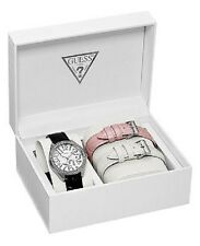 NEW AUTHENTIC GUESS Watch,Women Interchangeable Leather Strap Set 37mm U95096L1