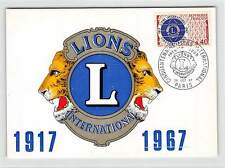 FRANCE MK 1967 LIONS CLUB MAXIMUMKARTE CARTE MAXIMUM CARD MC CM d9855