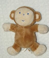 Koala Baby Plush Brown Tan Monkey Blue Stitched Face Small Stuffed Toy 7""