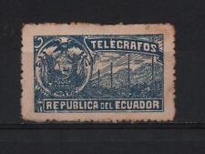ECUADOR 1900´s TELEGRAPH SERVICE REVENUE COAT OF ARMS BLUE VERY RARE