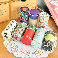 Korean Cute Mini Cylindrical Tin Coin Jewelry Ring Earring Box Candy Storage Box