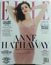 Elle April 2017 Anne Hathaway Beauty Secrets Glam Accessories FREE SHIPPING sb