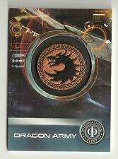 2014 Cryptozoic Ender's Game Replica Patch Cards  PC-01 DRAGON Army Patch
