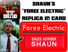 Shaun of the Dead Foree Electric Replica Plastic PVC ID Card Badge or customise