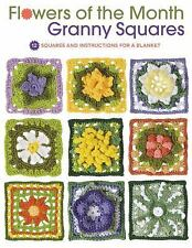 Flowers of the Month Granny Squares: 12 Squares and Instructions for a Blanket,
