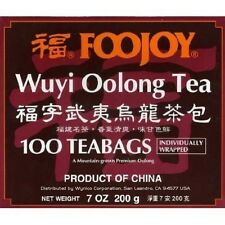 Foojoy China Wuyi Oolong (Wu Long) Weight Loss Tea 100 Tea Bags - FREE SHIPPING