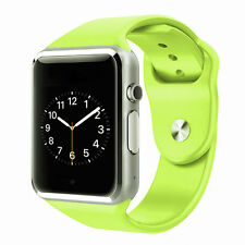 A1 Sports Bluetooth Smart Watch Phone Mate GSM SIM for Android iPhone Sony Green