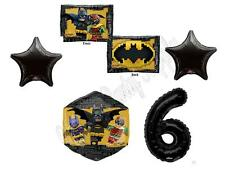 6th BATMAN LEGO MOVIE Birthday Party Balloons Decoration Supplies Robin Sixth