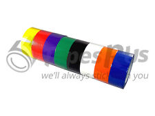 "8 ROLLS 2"" x 55 YDS RAINBOW COLOR CARTON SEALING PACKING TAPE - FREE SHIPPING"