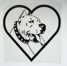 "Sticker Pitbull Aufkleber Car-Styling JDM OEM ""I Love My Dog"""