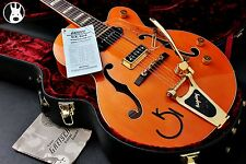 ✯SUPERB✯ GRETSCH G6120-W 1957 Eddie Cochran Signature Hollow Body ✯Orange✯2005✯