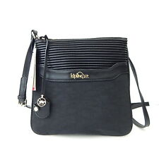 NWT Kipling Always On Collection Thora Crossbody Bag Channel Quilt Black