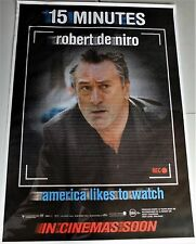 RARE HUGE Bus Shelter PROMO Movie Poster 15 MINUTES w. ROBERT DE NIRO Australia