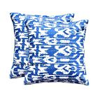 16''INDIAN CUSHION COVER PILLOW CASE KANTHA WORK FLORAL ETHNIC THROW DECOR ART_*