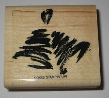 Bells Rubber Stamp Stampin' Up! Wedding Christmas Retired 2002 Wood Mounted