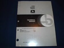 JOHN DEERE 244E LOADER TECHNICAL SERVICE SHOP REPAIR MANUAL BOOK TM1503