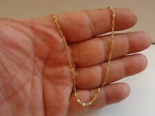 18K YELLOW GOLD OVER 925 STERLING SILVER LADIES DESIGNER NOVA LINK CHAIN /18''
