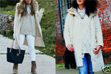 Zara s/36 38 Coat with faux fur Hood Jacket poncho manteau veste réf. 6873/107