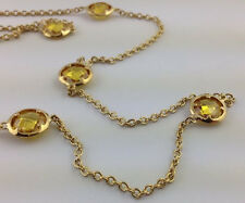 "Lauren G Adams 42"" Glamour by the Yard Topaz Station Necklace,  N-55011g New"
