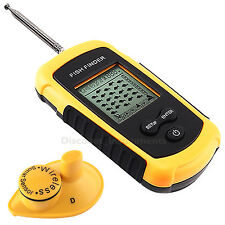 LCD Portable Wireless Sonar Sensor Fish Finder Depth Fishfinder Fresh Saltwater
