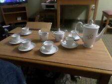 Demitasse Pink Lilly of the Valley 17 Pc Noritake China Tea Set for 6