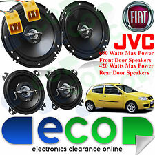 Fiat Punto 1993-99 MK1 JVC 1020 Watts 2 Way Front Door & Rear Hatch Car Speakers