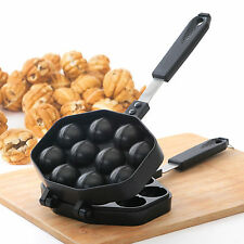 Kitchen Taiyaki Walnut Cake Pan Snack Maker Home Cooking Baker Die Cast Round