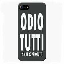 Cover per iPhone 7 Plus Frasi Odio Tutti