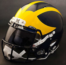 MICHIGAN WOLVERINES NCAA Authentic GAMEDAY Football Helmet w/ OAKLEY Eye Shield