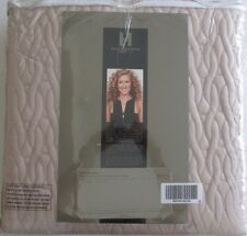 KELLY HOPPEN CHAIN LINK REVERSIBLE EMBROIDERED BEDCOVER BLUSH. NEW