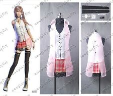 NEW Final Fantasy XIII FF 13 Serah Farron Clothings Cosplay Costumes Custom Made