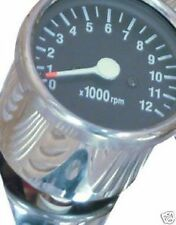 MOTORCYCLE MECHANICAL HONDA CHROME TACHO TACHOMETER REV COUNTER 1:7 RATIO TAC02