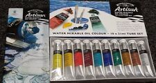 WINSOR & NEWTON ARTISAN WATER MIXABLE OIL COLOR SET W/ 10 TUBES (86D)