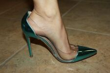 Gianvito Rossi Plexi PVC Turquoise 100mm Heels Shoes 35 US 5