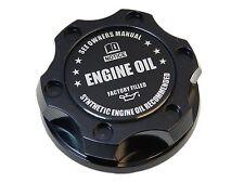 BLACK SYNTHETIC OIL BILLET RACING ENGINE OIL FILLER CAP FOR MITSUBISHI BK