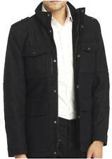 New KENNETH COLE NY Men's Black Wool Military Coat Jacket, nwt, S, $250 **LAST**
