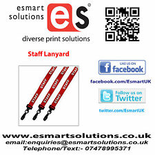 5 x STAFF Neck Lanyards, RED, (FREE P&P)