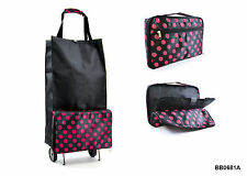 Stylish & Compact Frameless Lightweight Folding Shopping Trolley Bag
