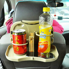 Foldable Car Back Seat Table Tray Stand Food Cup Drink Bottle Rack Holder OV