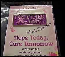 Breast Cancer Awareness Pin Hope Today Together We Make A Difference New D