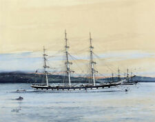 Spurling Jack Golden Fleece At Anchor In the Roadstead Maritime Print   #5050